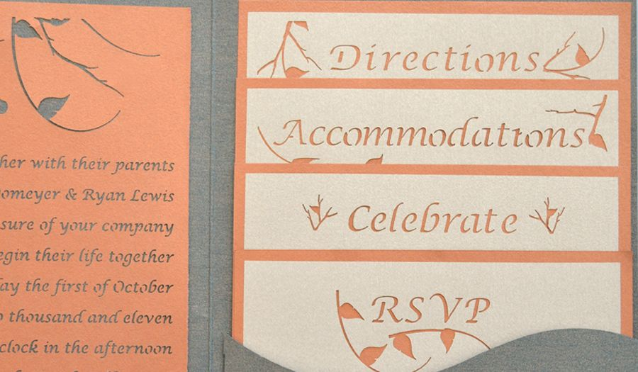 Enchanted Forest Wedding Insert Reception Cards And Invitations