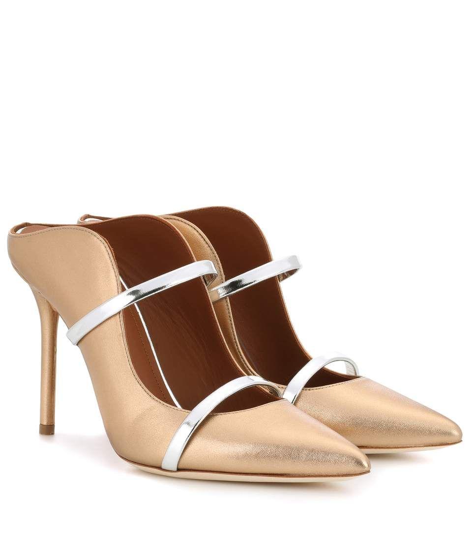 MALONE SOULIERS Maureen metallic leather slippers UMz50yf8hh