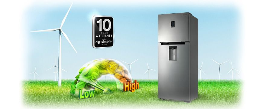 Digital Inverter Compressor and 10 Year Warranty | Home