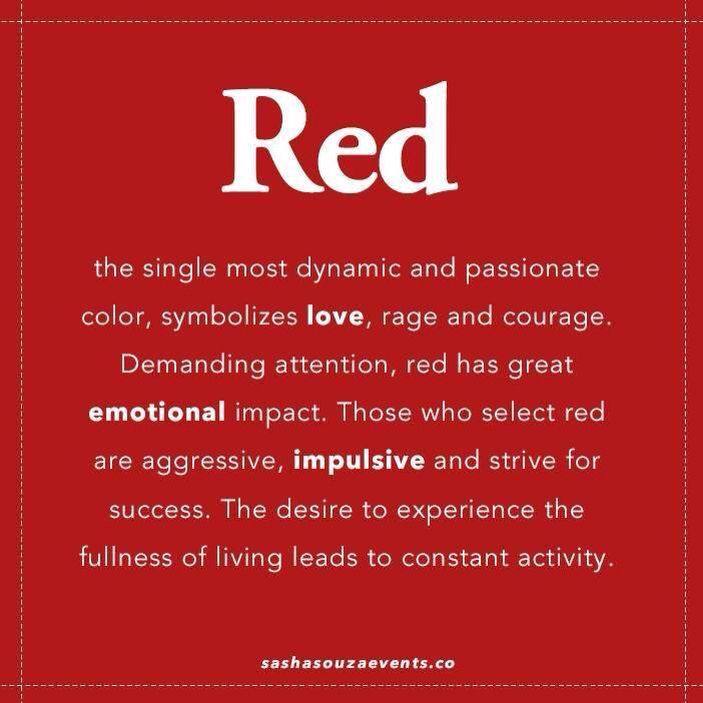 What Does Red Mean Seeing Red Pinterest