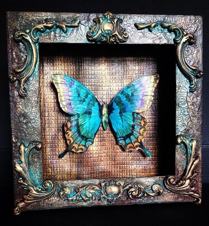 Butterfly Display Box By Jools Robertson Decoartprojects