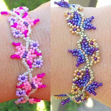 New Bracelet Pattern! Flutterbies Butterfly Chain beaded ...