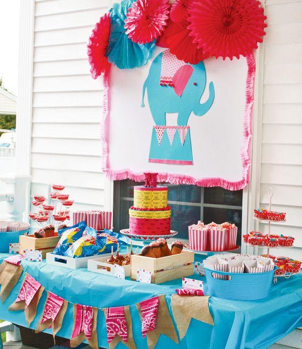 bright u fabulous girly circus party mesas de cumpleaos