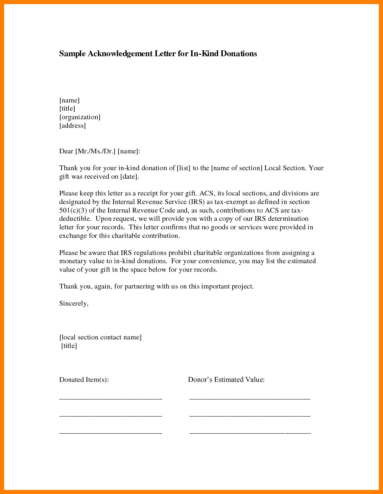 Business Letter Sample Acknowledgement Acknowledgment Letters