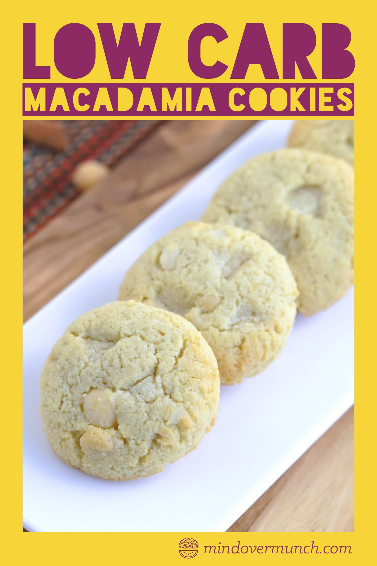 Low Carb White Chocolate Macadamia Nut Cookies #ketocookierecipes