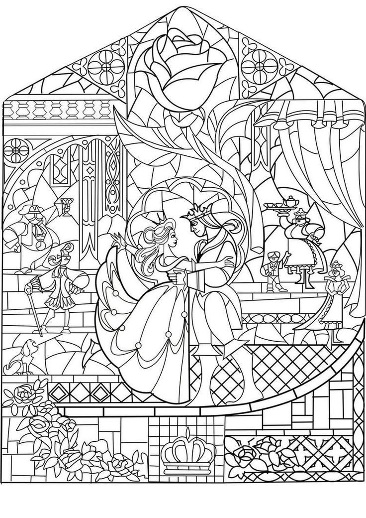 Adult Prince Princess Art Nouveau Style Coloring Pages Printable And Book To Print For Free Find More Online Kids Adults Of