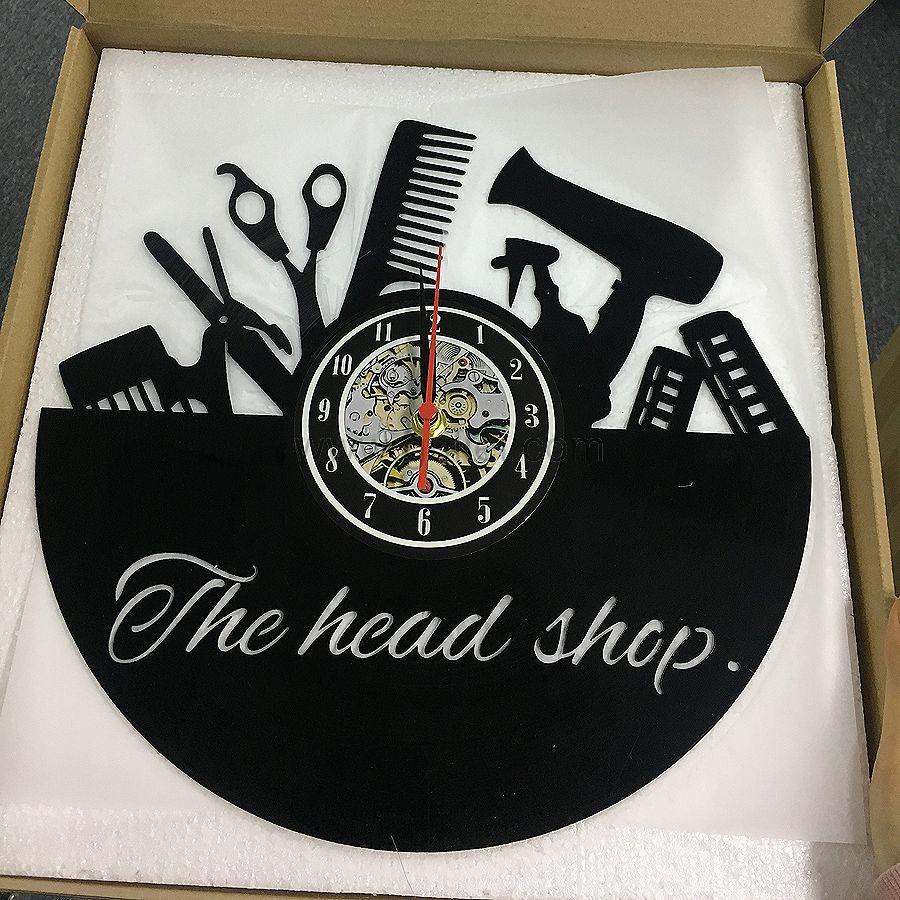 Custom Gift For Salon Vinyl Record Clock In 2020 Vinyl Record Clock Record Clock Vinyl Records