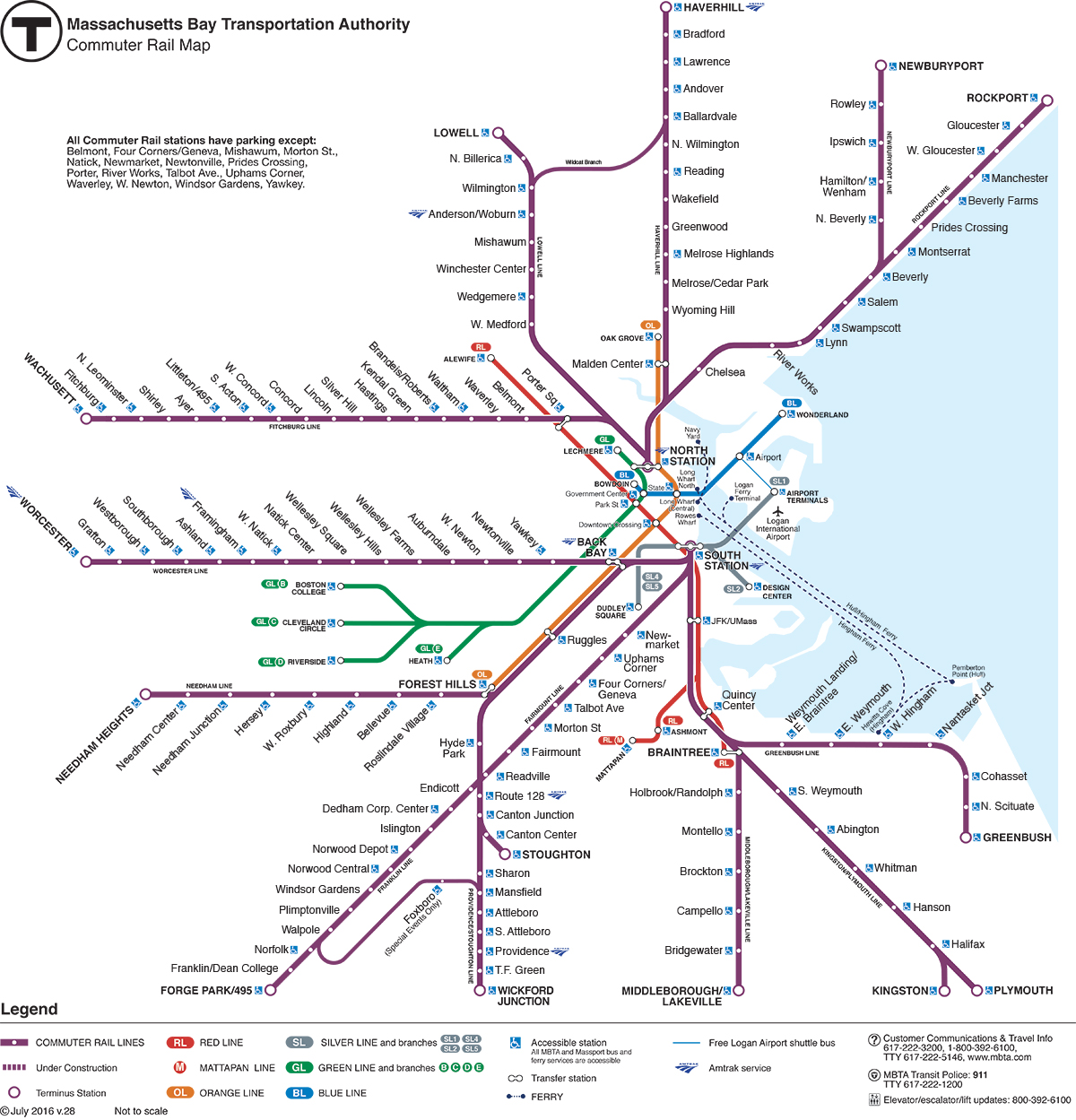 mbta muter rail map walpole ma pinterest boston vacation