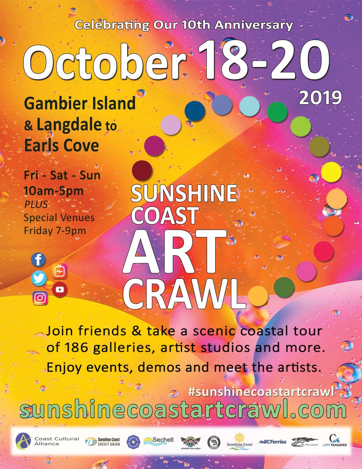 Events 10th anniversary sunshine coast art crawl october