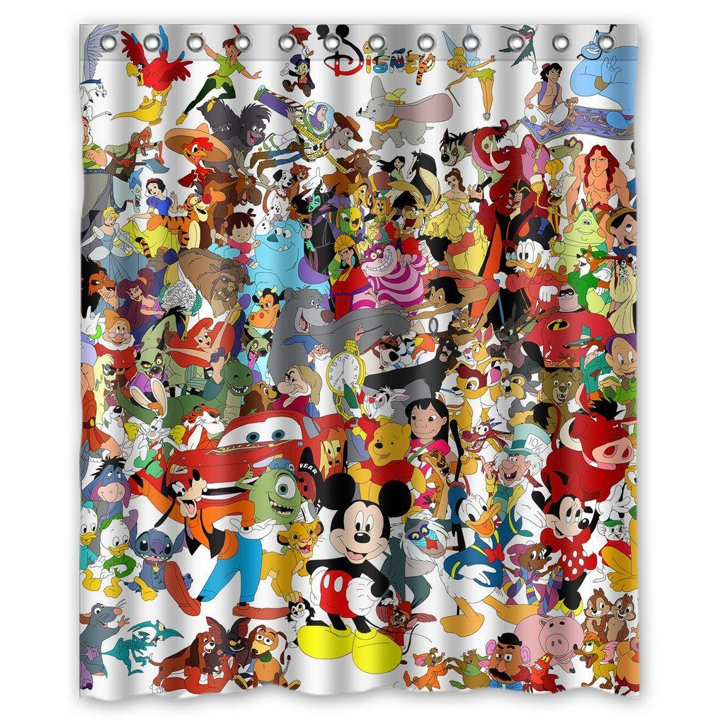 Christmas shower curtains on ebay - Must Have Disney Shower Curtains