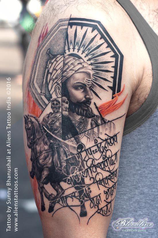 aca8f4c7edc1e Chatrapati Shivaji Tattoo by Sunny Bhanushali at Aliens Tattoo India. I  always wanted to work