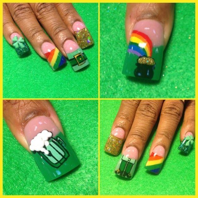 More st Patrick\'s day - Nail Art Gallery | Nails | Pinterest | Santa ...