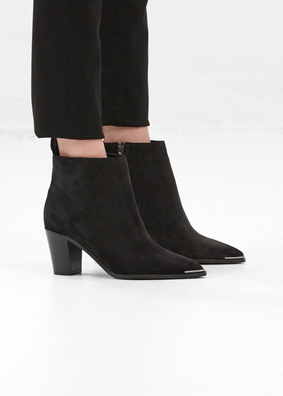 acne studios loma suede ankle boot black shooz. Black Bedroom Furniture Sets. Home Design Ideas