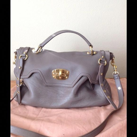 ... new authentic 31e58 d743c Spotted while shopping on Poshmark Miu Miu  Deer skin lock satchel authentic ... b019dd23b8