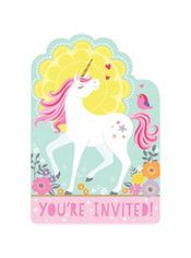 Magical Unicorn Invitations 8ct Party City