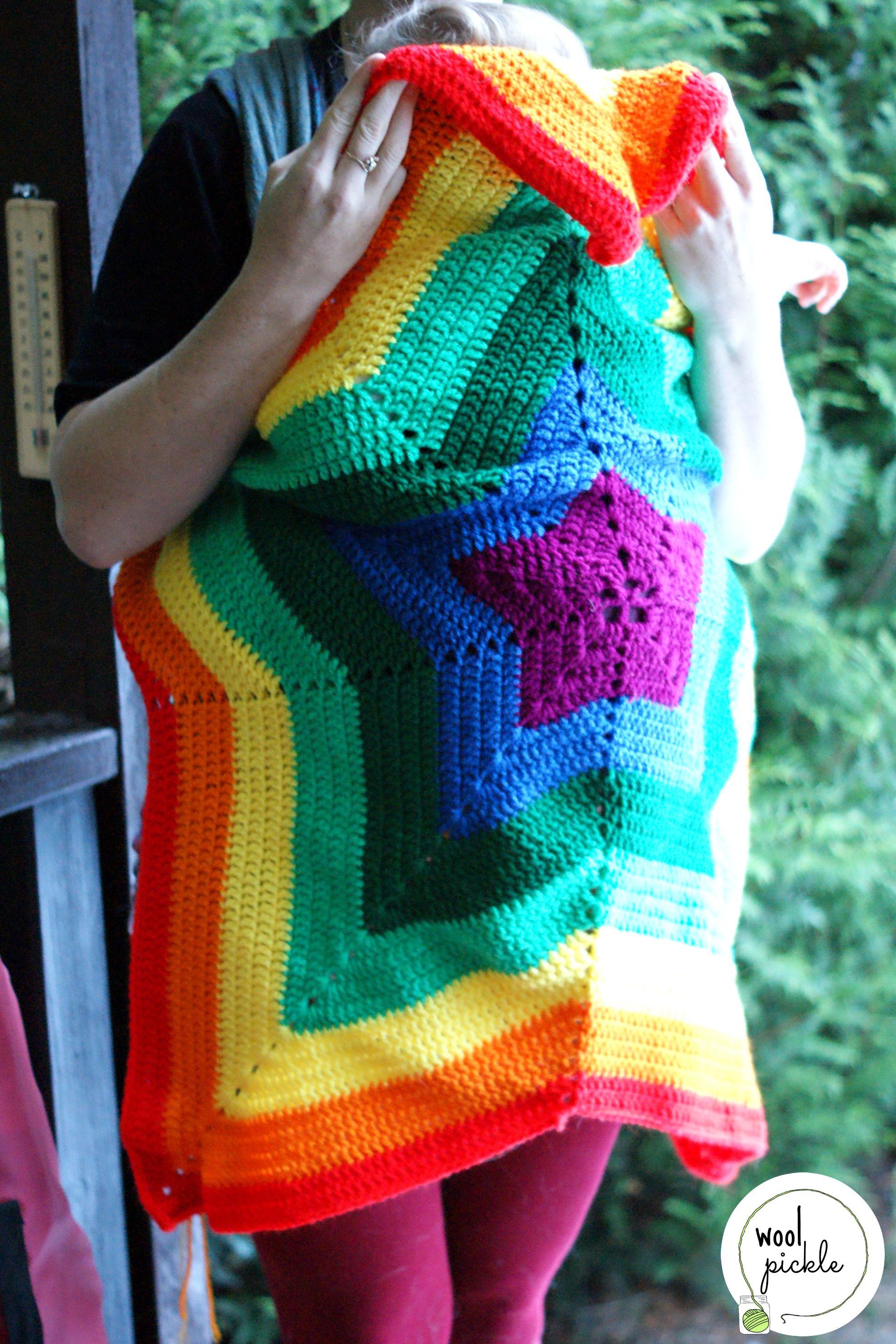 Rainbow Babywearing Blanket | Manta, Tejido y Ganchillo