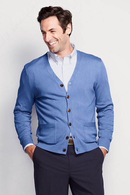 Men's Performance V-neck Cardigan Sweater from Lands' End
