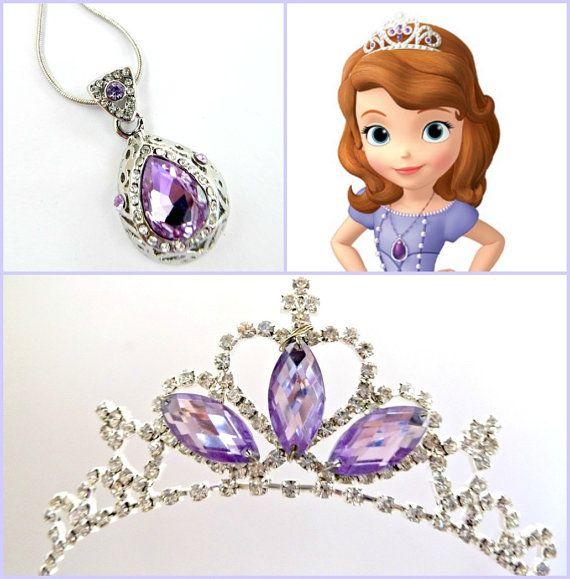 15f5379de2496 Sofia The first Tiara and Magic Amulet PRINCESS SOFIA Crown ...