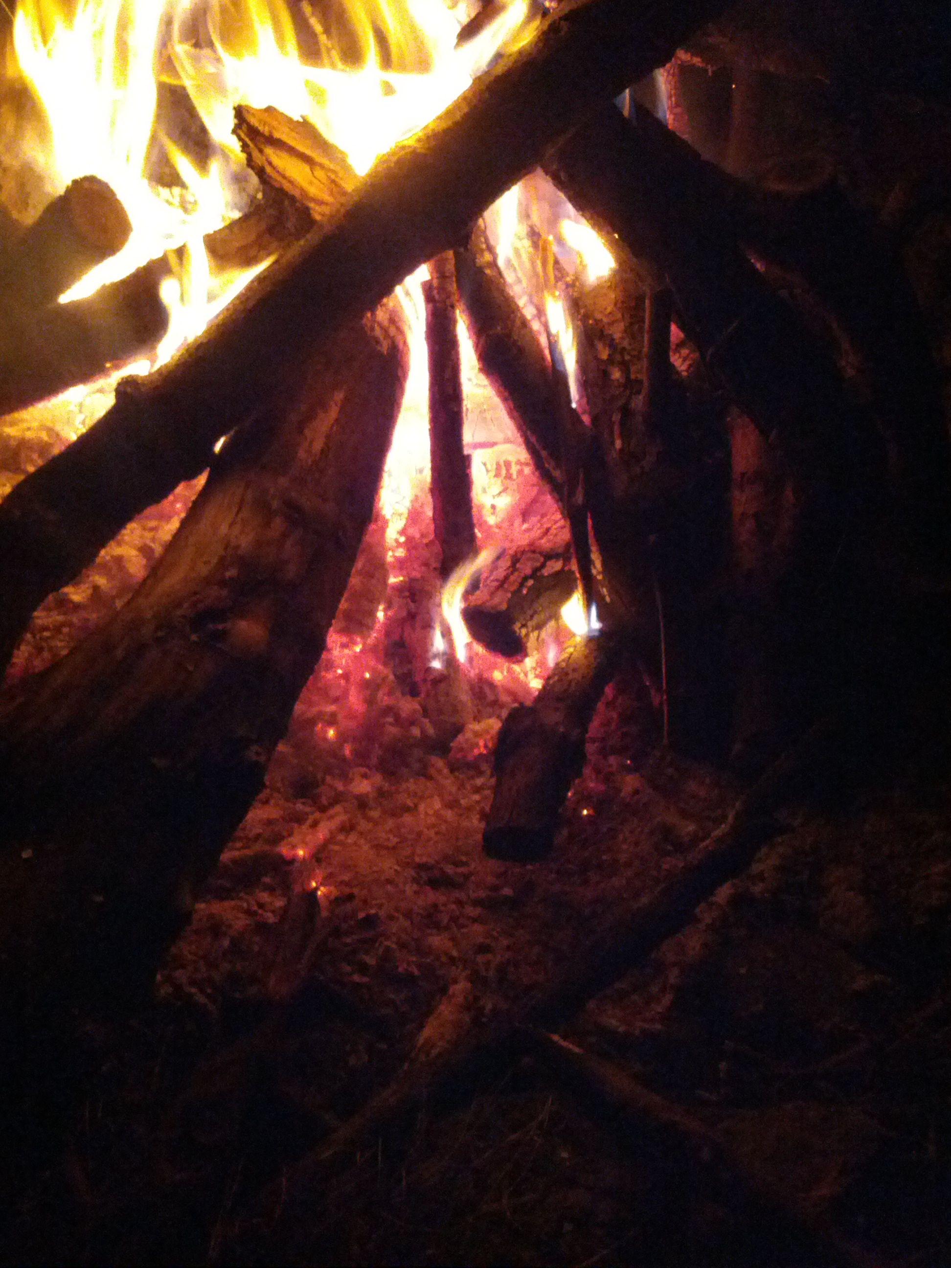 Bonfire at my aunt Joyce's house #bonfire #camp #fire #night #amateur #photography