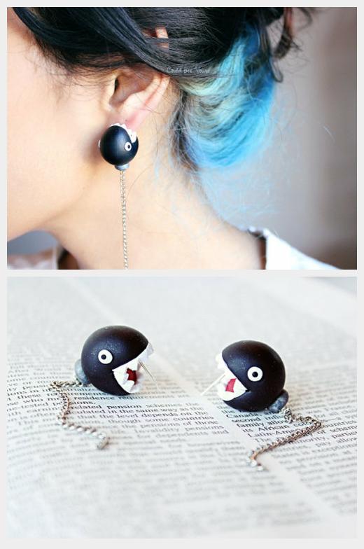 Chain Chomps Super Mario Nintendo Earrings | Products I ...
