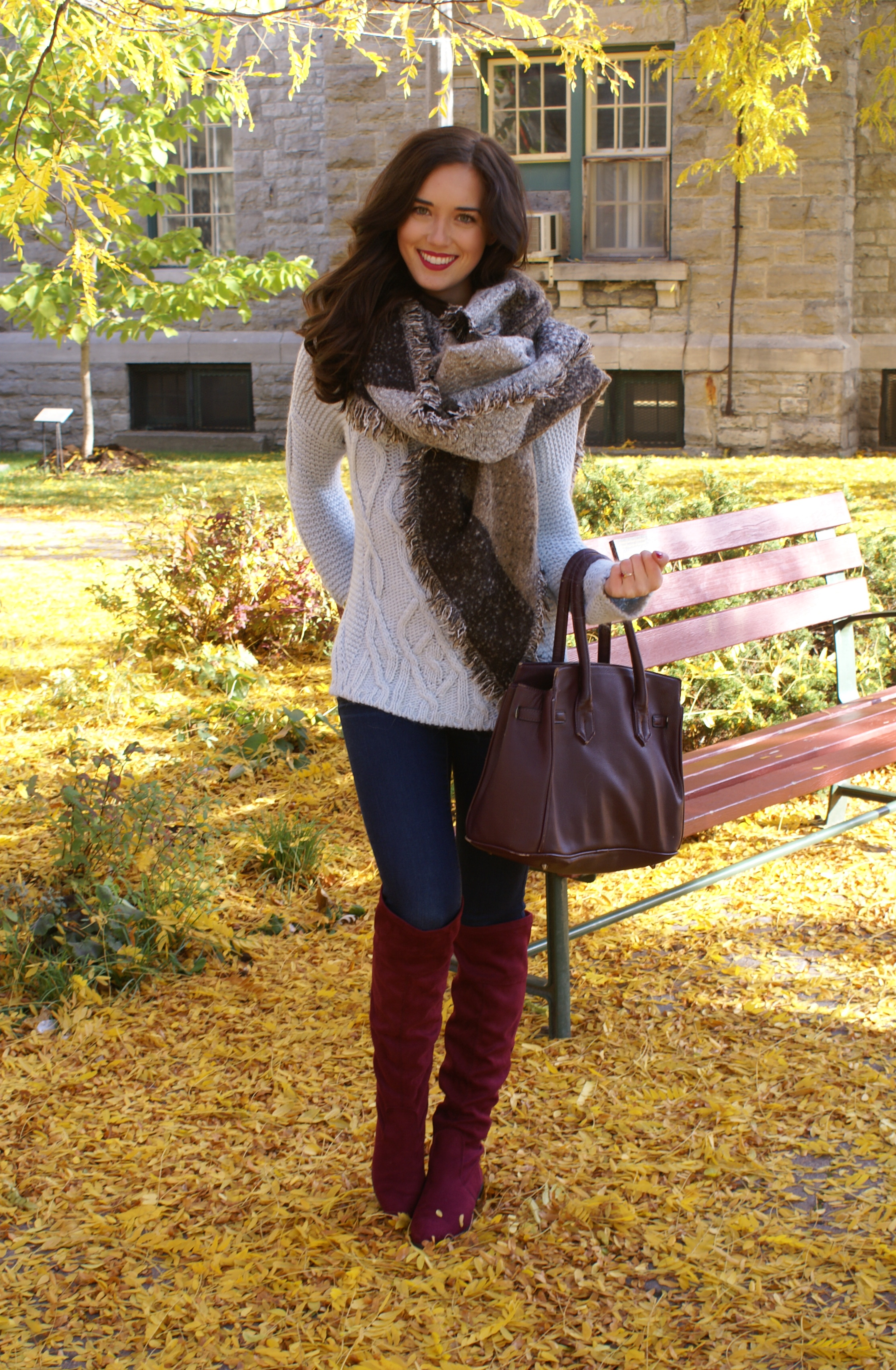 Wine Over-The-Knee Boots – Marie's Bazaar