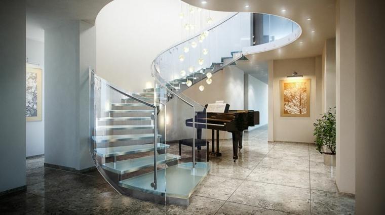 Innentreppe, inspiriert von der Moderne Haus