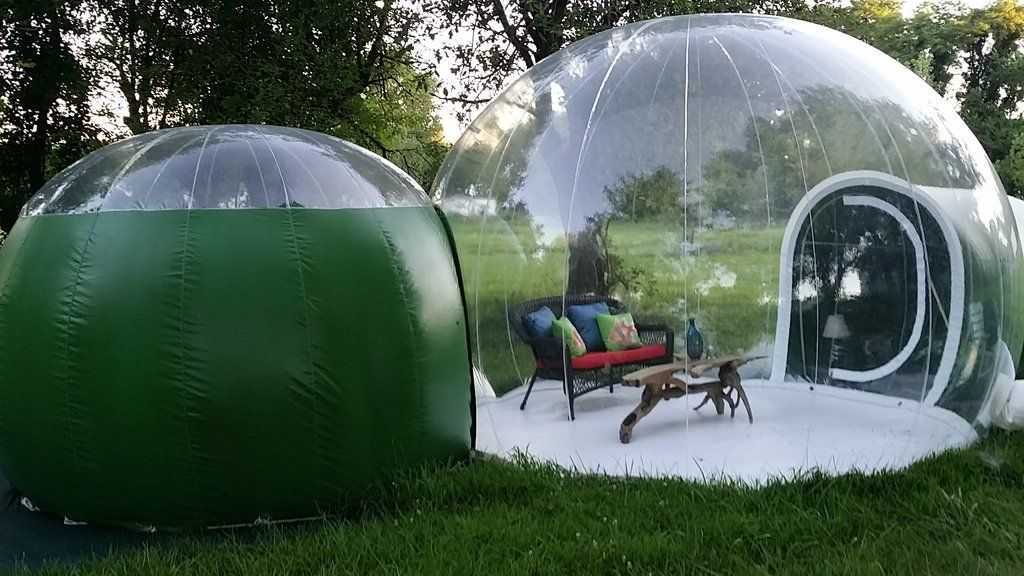 American-made Double Bubble Hut Gl&ing Tent & American-made Double Bubble Hut Glamping Tent | Glamping Outlet ...