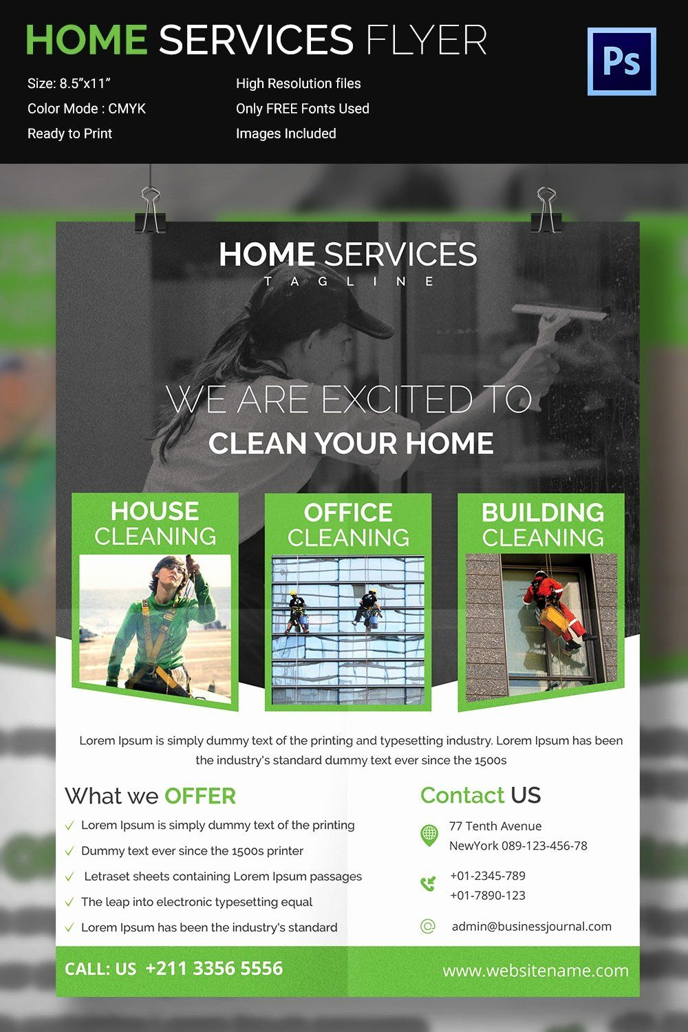Cleaning service flyer template in 2020 flyer template