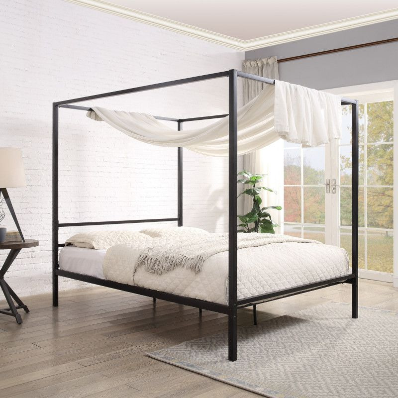 Features In 2020 Metal Bed Frame Four Poster Bed Frame King Size Bed Frame