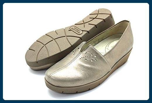 Waldlaufer Damen Leder Schuh Sommer Slipper Gold 4 5 37 Weite H Slipper Und Mokassins Fur Frauen Partner Link Lederschuhe Damen Lederschuhe Schuhe