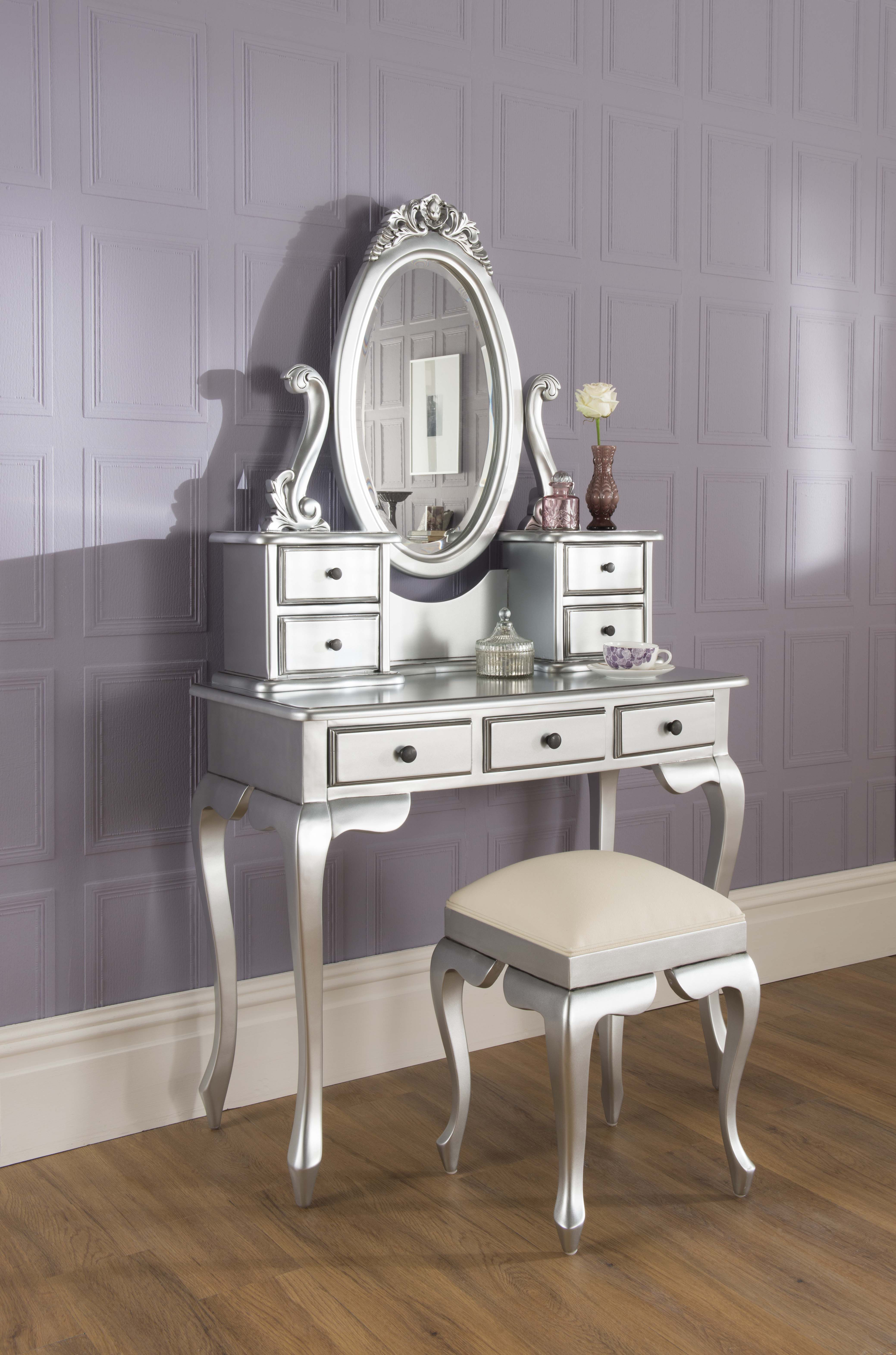 La Rochelle Bedroom Furniture La Rochelle Antique French Silver Dressing Table Set Now Alb47999