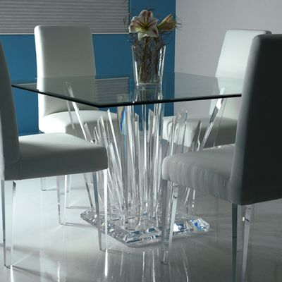 Great lucite table base i 39 ve ordered for a client for Lucite kitchen table