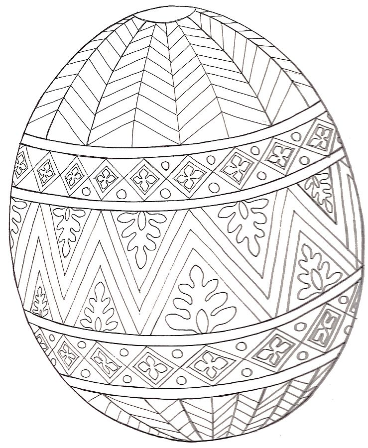Jan Brett design egg coloring page | work ideas | Pinterest | Pascua ...