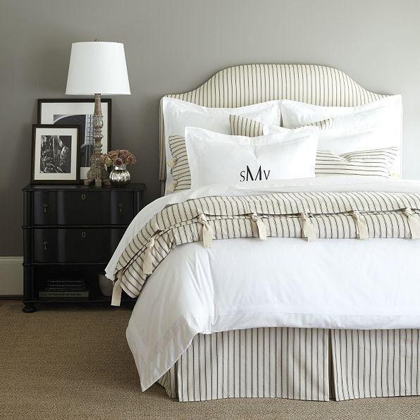 Ticking Stripe Duvet Navy Ballard Designs Ticking Stripe Bedding Bedroom Decor Home Decor
