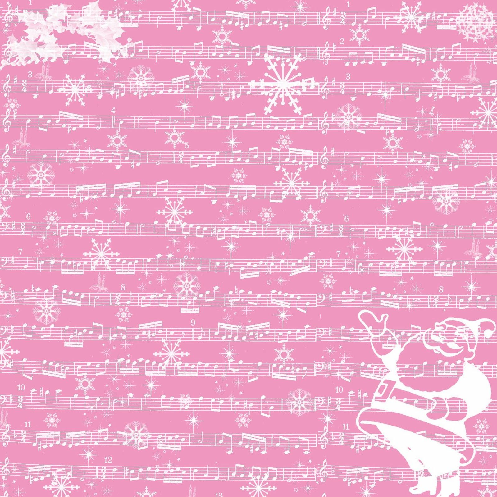 Free Digital Scrapbook Paper Christmas Sheet Music Boze Narodzenie Papier