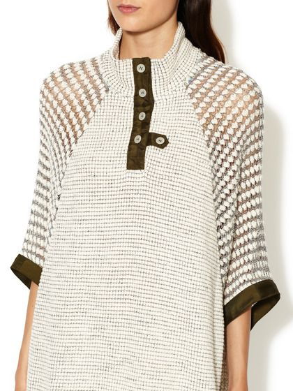 Crochet Sleeve Poncho by Love Zooey at Gilt