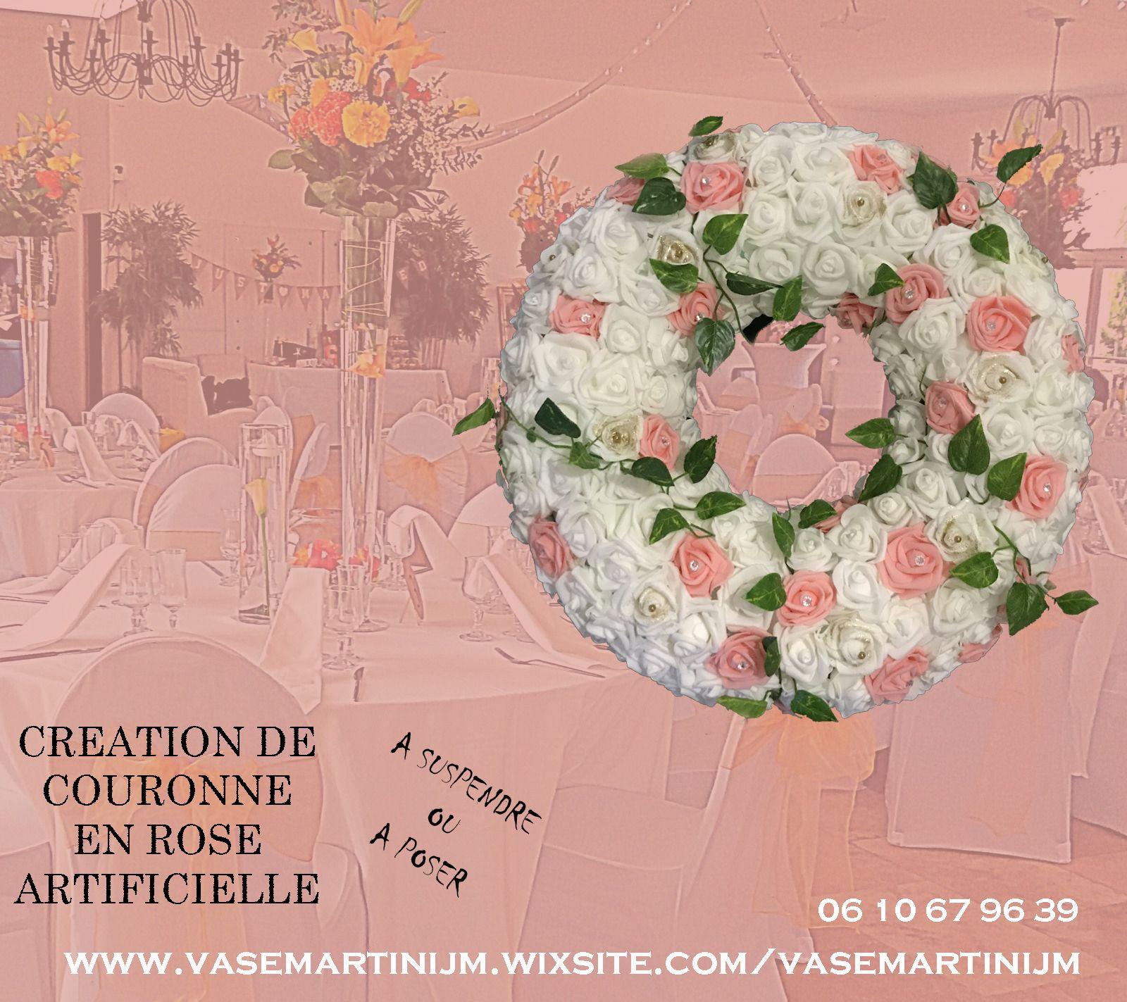 Creation De Couronne Fleurie En Fleur Artificielle Sur Marseille