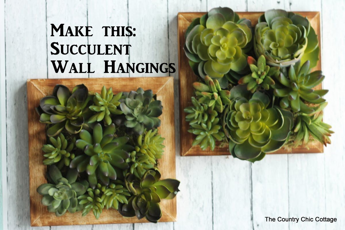 Faux Succulent Wall Hanging craftsunder10hoa Succulent