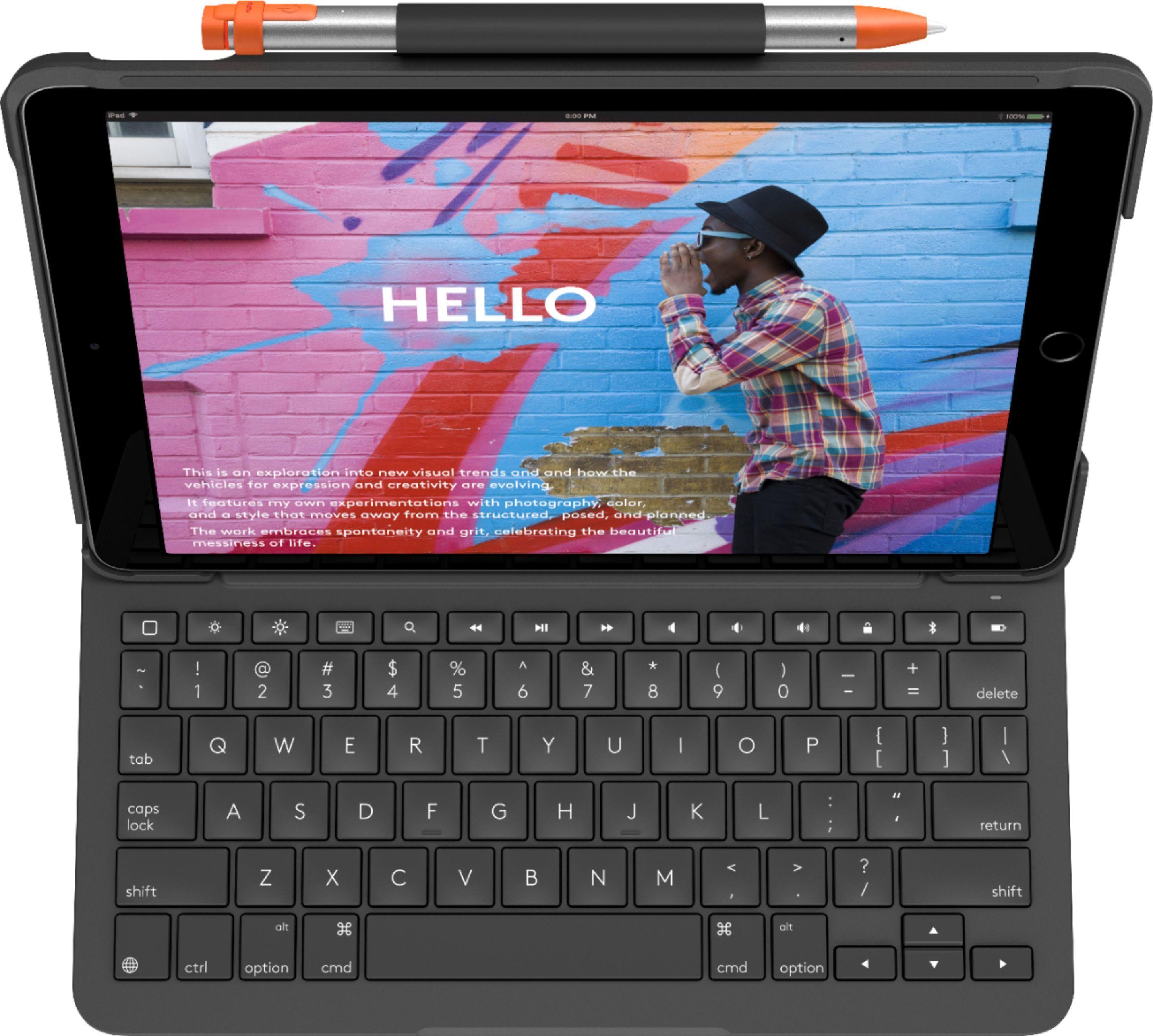 Logitech Slim Folio Keyboard Case For Apple Ipad 7th Generation 2019 Graphite 920 009473 Best Keyboard Case Logitech Apple Ipad