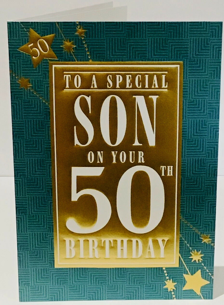Details about 50th Birthday Card Special Son 8.5 x 6