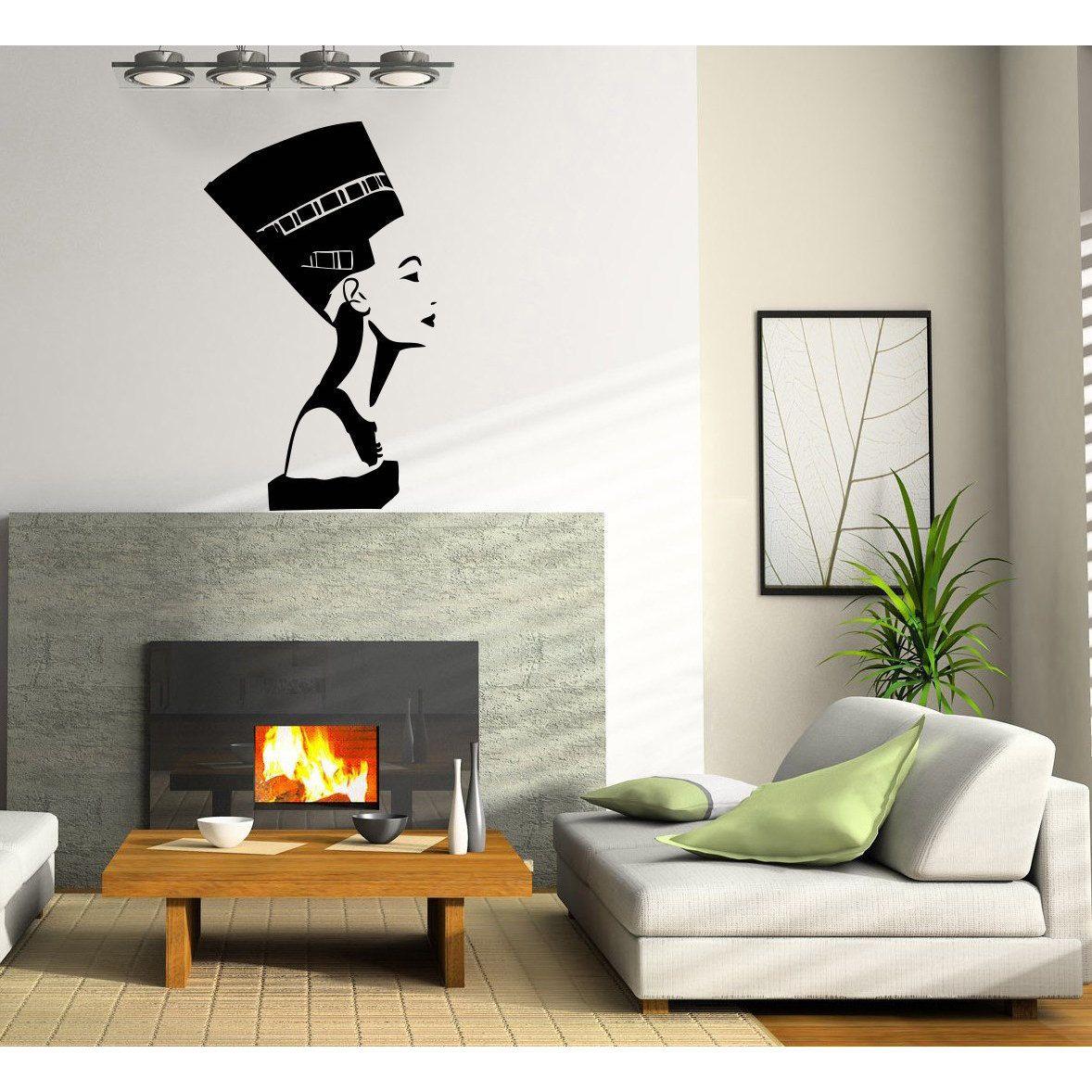 Nefertiti Egyptian Vinyl Sticker Wall Art | Products | Pinterest ...