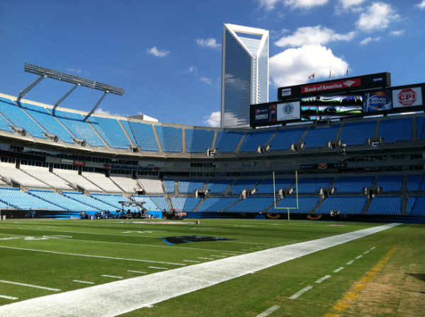 Inside Bank of America Stadium hours before game time