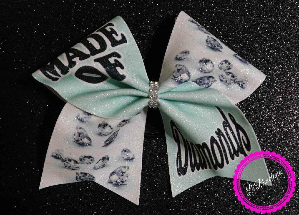 c62f8256fb3a Made of Diamonds Glitter Cheer Bow | cheer bows Le'BowtiqueKY ...