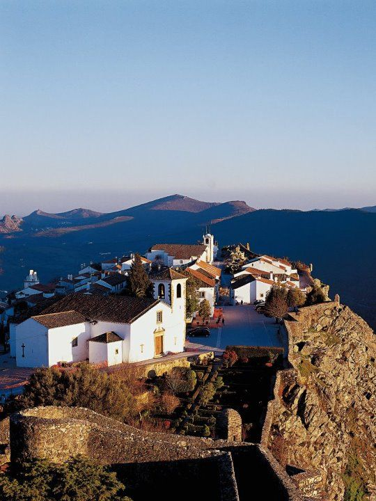 The Town Within The Walls With Its Beautifully White Washed Houses