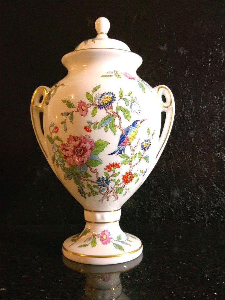 Large Aynsley Pembroke Lidded Urn 9 Tall Vase Aynsley Stolen