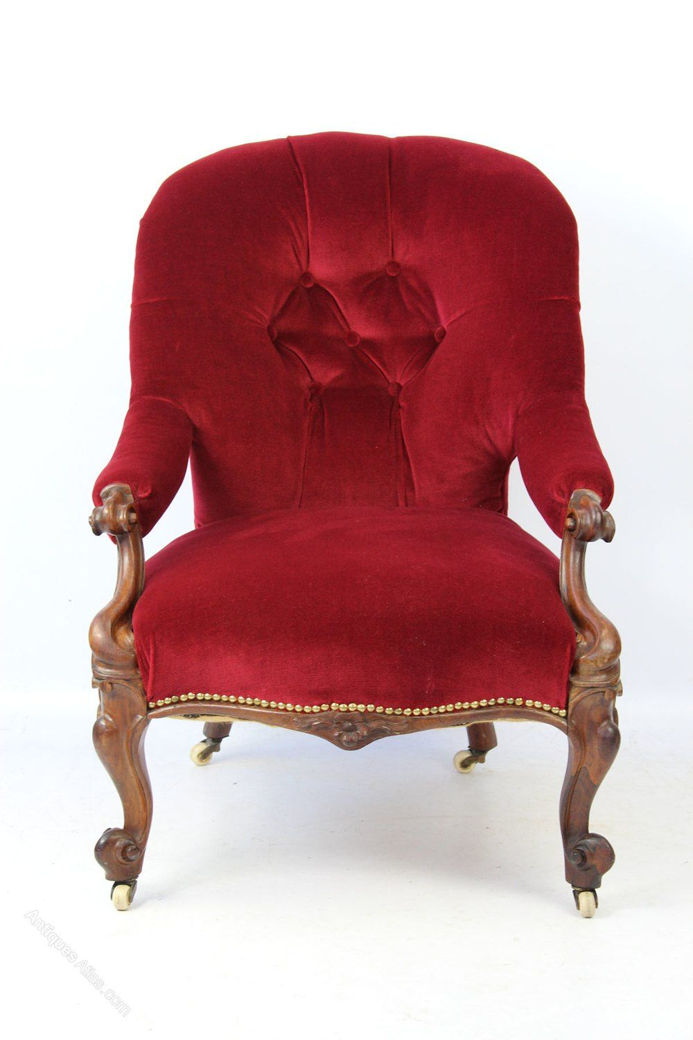 Best Small Victorian Rosewood Button Back Armchair Antiques 400 x 300