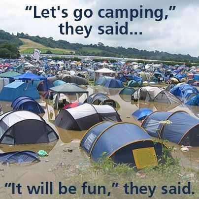 Bad Weather Camping Meme