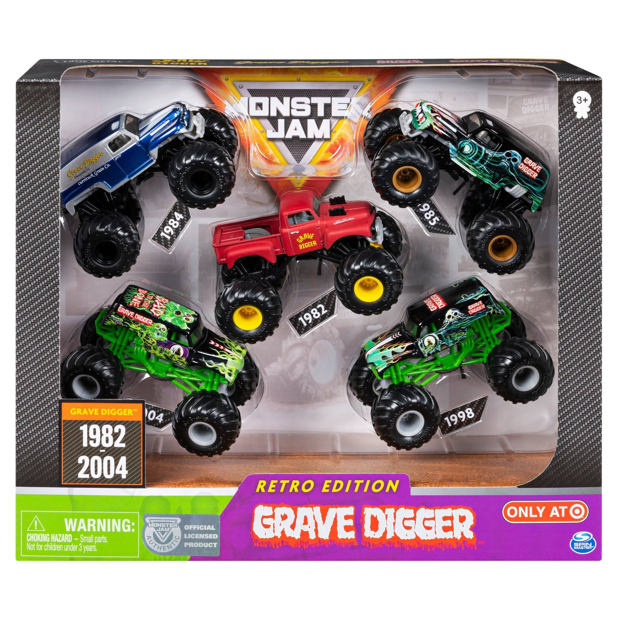 Monster Jam Grave Digger Diecast Vehicle 1:64 Scale ...