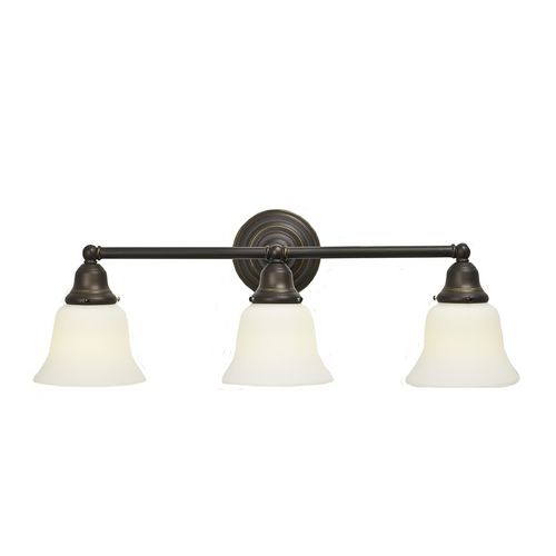 Craftsman Style Fluorescent 3-Light Bathroom Light Bronze | Lights