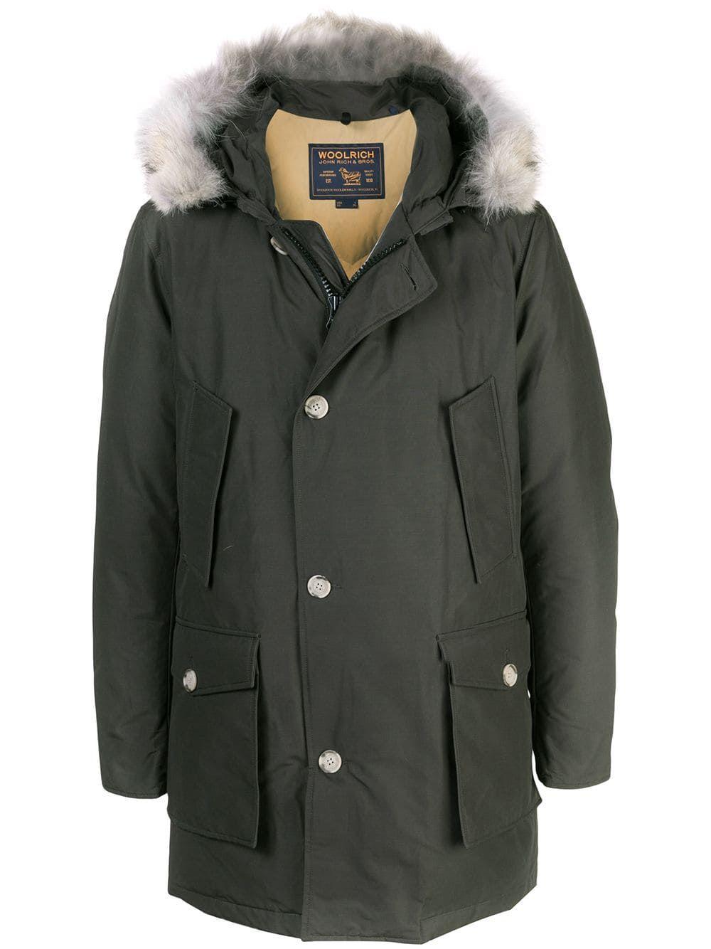 Woolrich Arctic Parka Coat In Green Modesens Arctic Parka Parka Coat Casual Coat